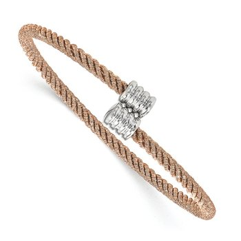 Leslie's Sterling Silver Rose Gold-tone Bangle