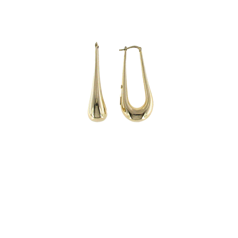 Roberto Coin 18Kt Gold Oval Hoops