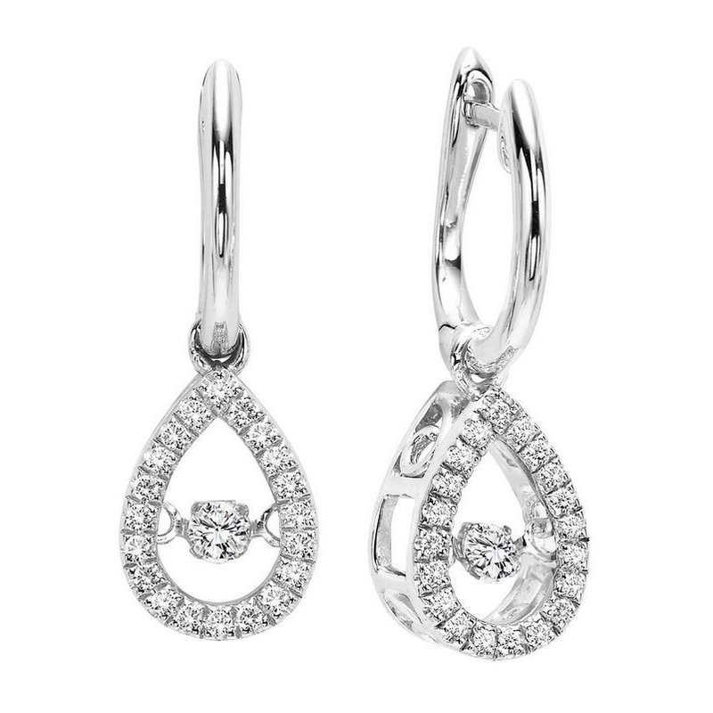 Gems One 10K White Gold Rhythm of Love Prong Diamond Earrings 1/5CT