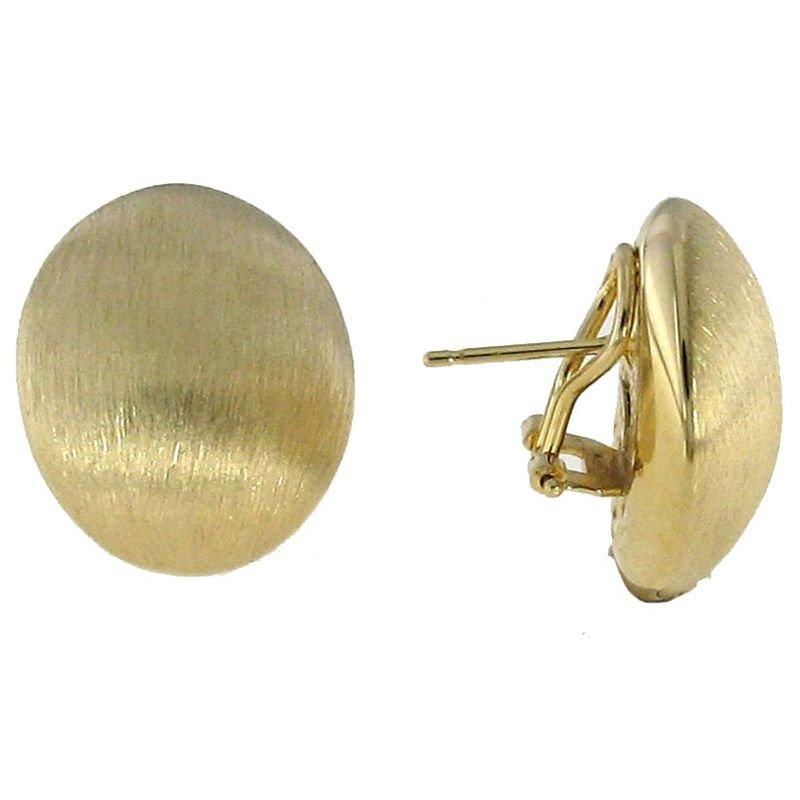 Roberto Coin 18Kt Gold Satin Finish Earrings