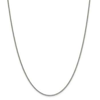 Sterling Silver 1.75mm Curb Chain Anklet