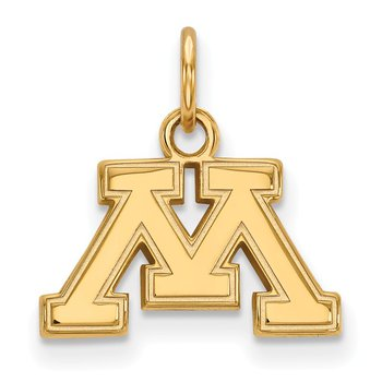Gold University of Minnesota NCAA Pendant