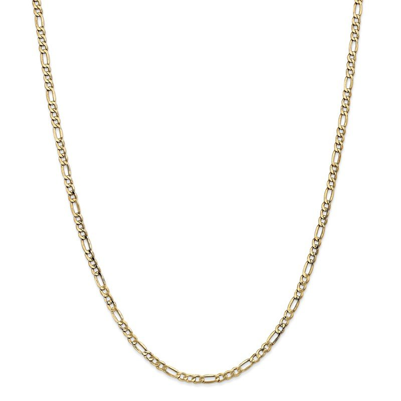 Quality Gold 14k 3.5mm Semi-Solid Figaro Chain Anklet
