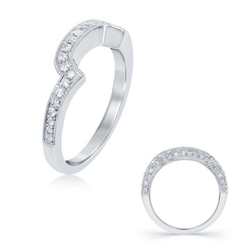 White Gold Wedding Band