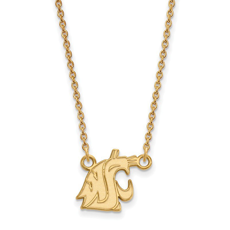 NCAA Gold-Plated Sterling Silver Washington State University NCAA Necklace