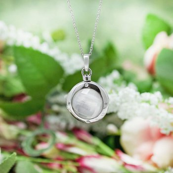 Michelle Locket Necklace Silver