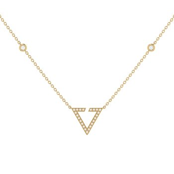Skyline Necklace in 14 KT Yellow Gold Vermeil on Sterling Silver