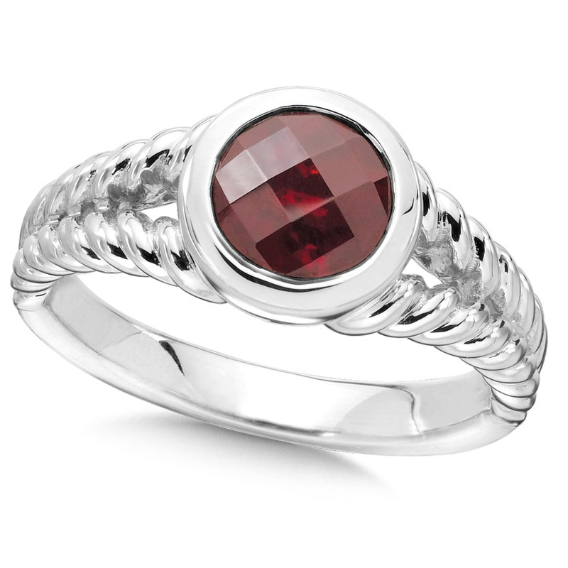Colore Sg Sterling Silver & Garnet Ring
