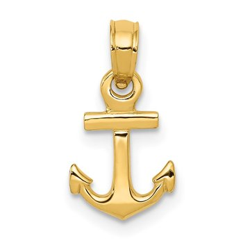 14k Mini Anchor Pendant
