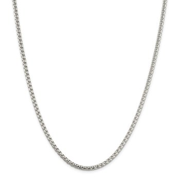 Sterling Silver 3.6mm Round Box Chain