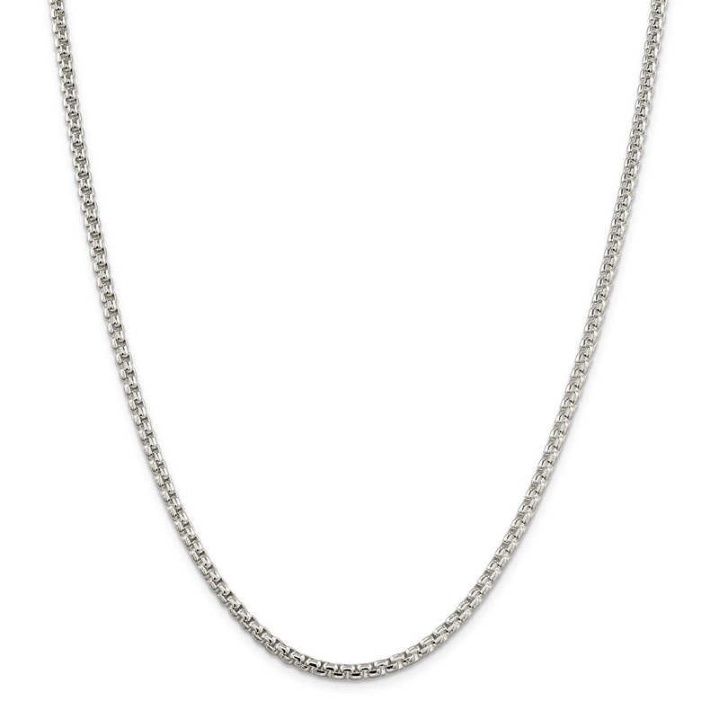 Quality Gold Sterling Silver 3.6mm Round Box Chain