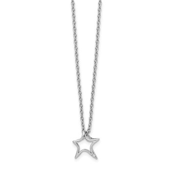 SS White Ice Diamond Star Necklace