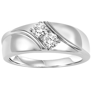 14K Diamond Men's Band 1/2 ctw