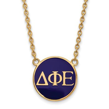 Gold-Plated Sterling Silver Delta Phi Epsilon Greek Life Necklace
