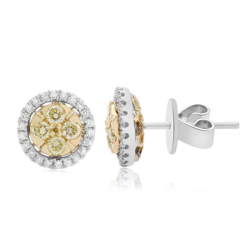 Roman & Jules Circular Diamond Cluster Earrings