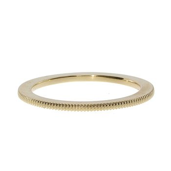 Yellow Gold Milgrain Spacer