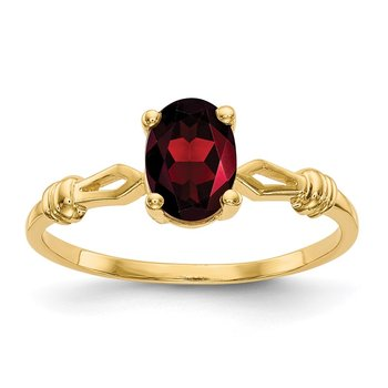 14k 7x5mm Oval Garnet ring