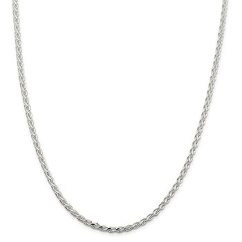 Sterling Silver 3.75mm Diamond-cut Spiga Chain