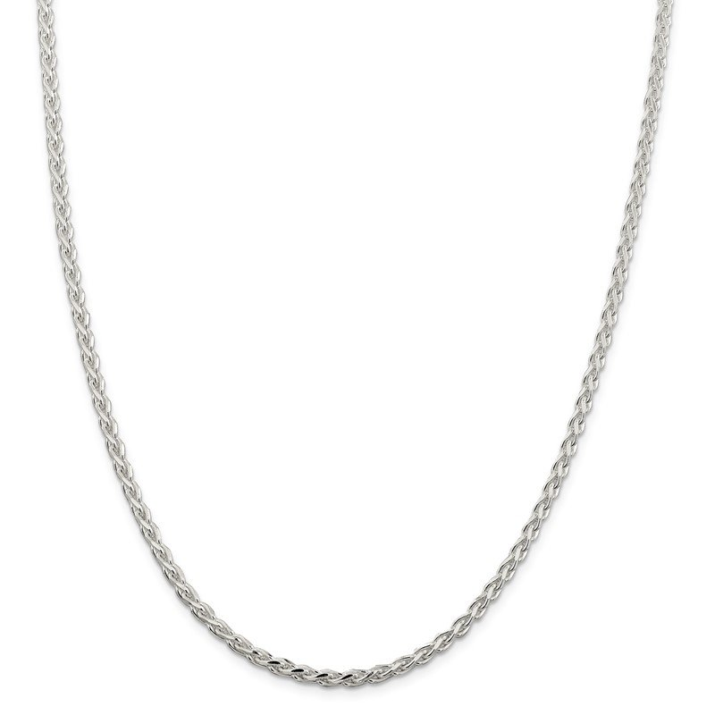 Quality Gold Sterling Silver 3.75mm Diamond-cut Spiga Chain