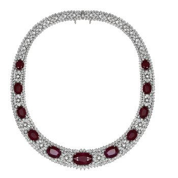 Diamond & Ruby Collar Necklace