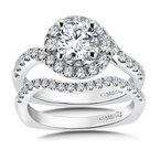 Caro74 Diamond Engagement Ring Mounting in 14K White Gold with Platinum Head (.49 ct. tw.)