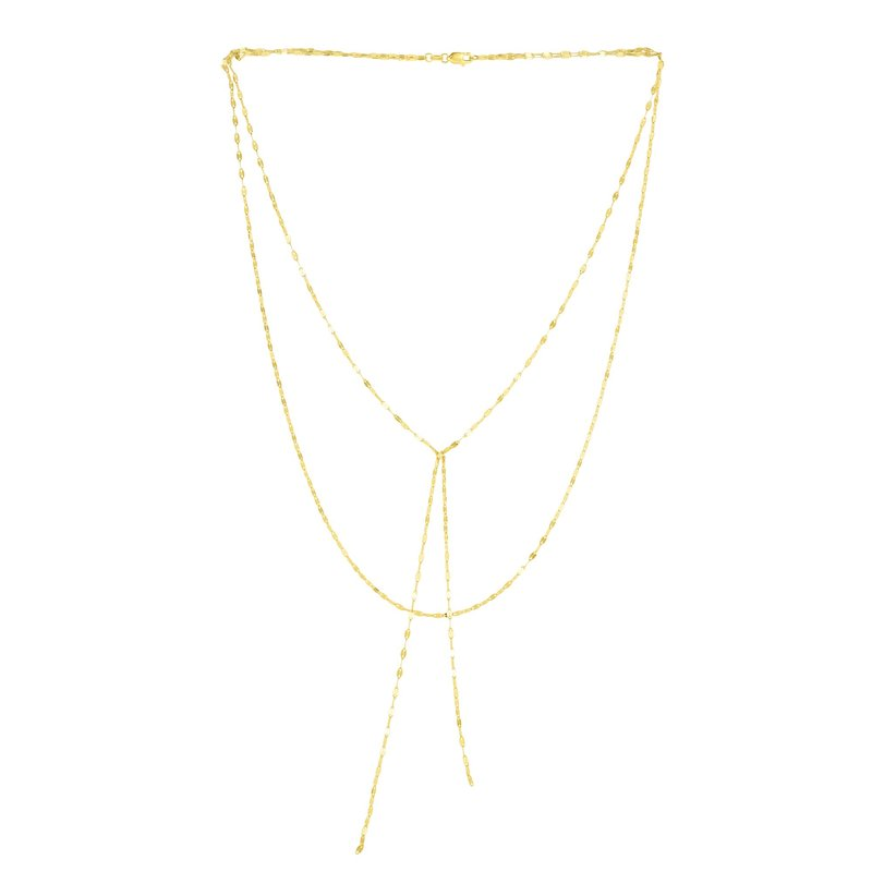 Royal Chain 14K Gold Mirror Chain Multi-Strand Necklace