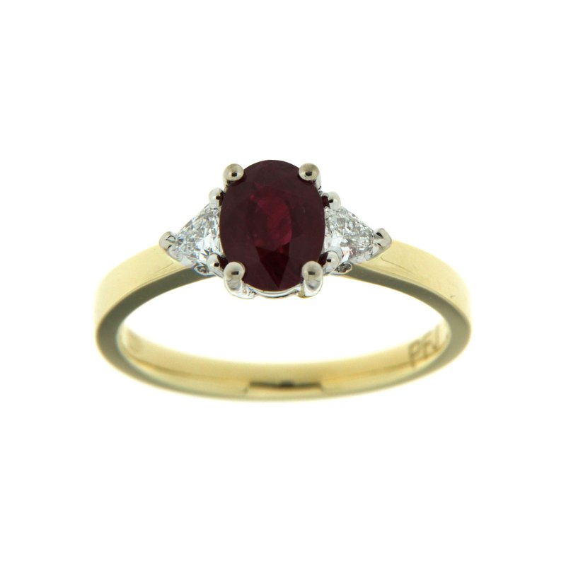 Paragon Fine Jewellery 18k Two Tone Gold Ring with Ruby & Diamond