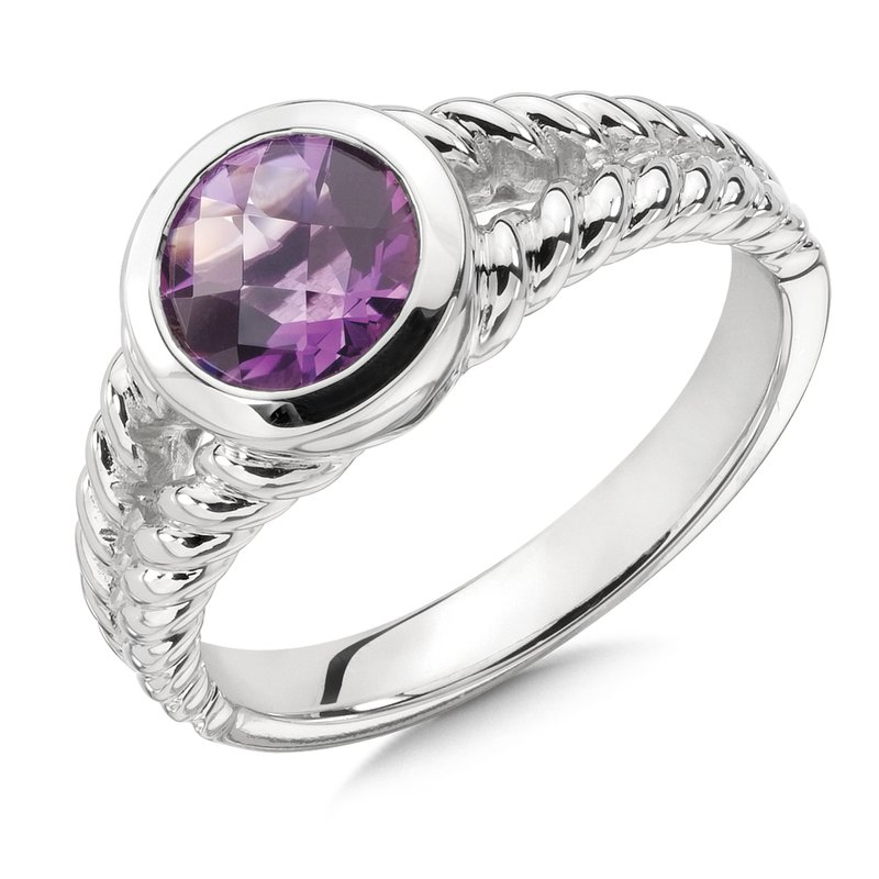 Colore Sg Sterling Silver & Amethyst Ring
