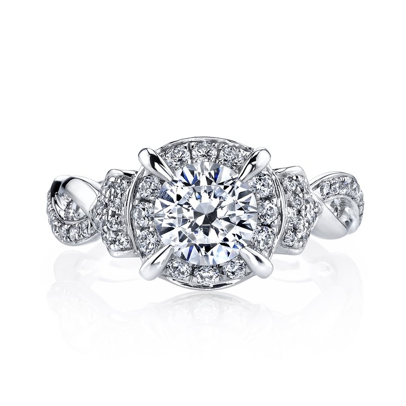 MARS Jewelry MARS 25948 Diamond Engagement Ring, 0.45 Ctw.