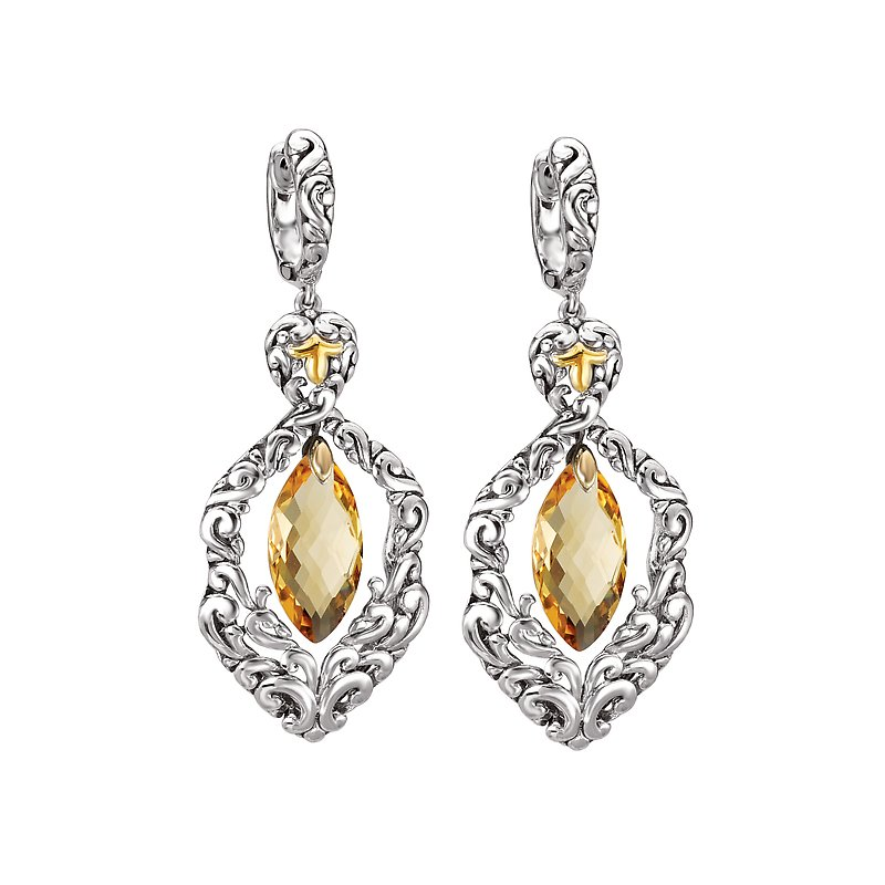 Eleganza Ladies Fashion Gemstone Earrings