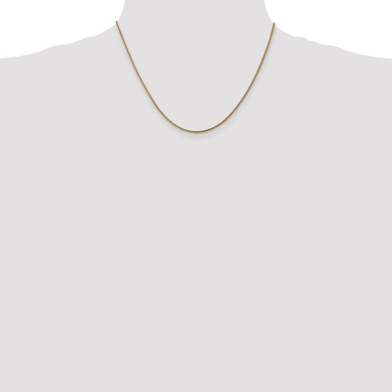 Quality Gold 14k 1.6mm Round Snake Chain