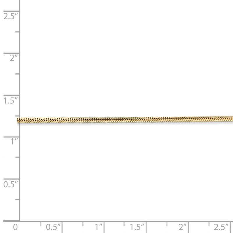 J.F. Kruse Signature Collection 14k 1.6mm Round Snake Chain