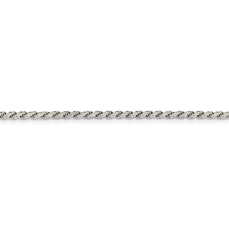 Sterling Silver 2.25mm Flat Rope Chain