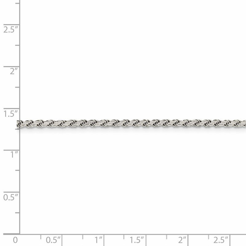 Quality Gold Sterling Silver 2.25mm Flat Rope Chain
