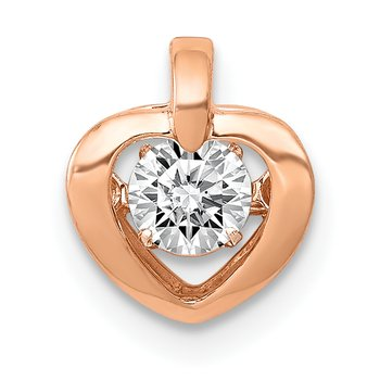 14k Rose Gold 1/4ct. Vibrant Diamond Heart Pendant