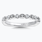 Valina Diamond and 14K White Gold Wedding Band (.305 ct. tw.)