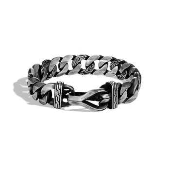 Asli Classic Chain Curb Link 15MM Bracelet in Silver