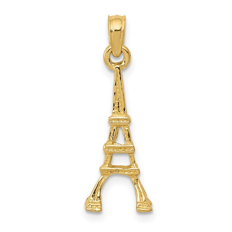 Quality Gold 14k Eiffel Tower Pendant