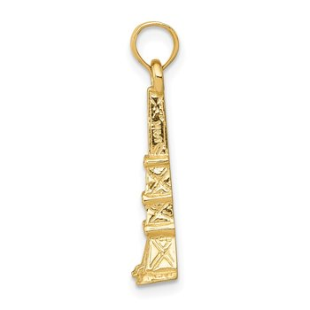 14k Eiffel Tower Pendant