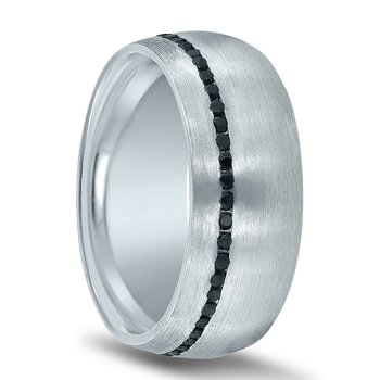 Men's 5/8 Carat Black Diamond Wedding Band ND01988 by Novell