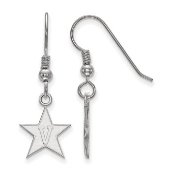 Sterling Silver Vanderbilt University NCAA Earrings