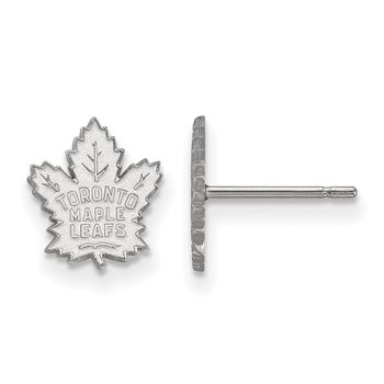 Sterling Silver Toronto Maple Leafs NHL Earrings