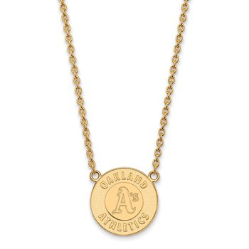 Gold Oakland Athletics MLB Necklace