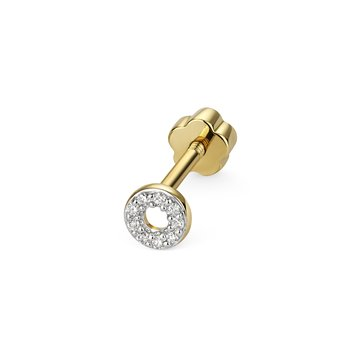 Diamond Cartilage Circle Stud