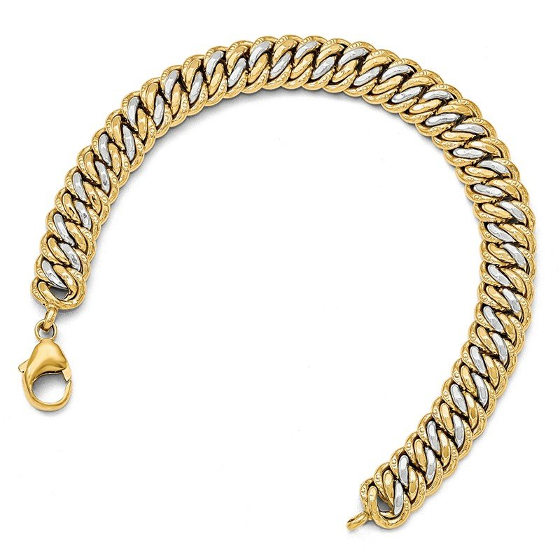 Leslie's Leslie's 14K Gold Rhodium-plated Fancy Link Bracelet