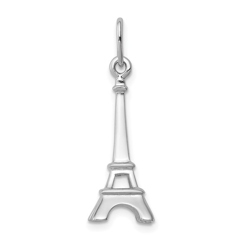 Quality Gold Sterling Silver Eiffel Tower Charm