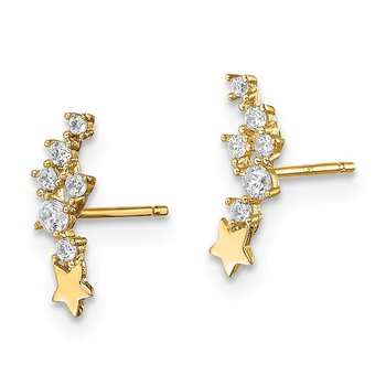14k Madi K Shooting Star CZ Post Earrings