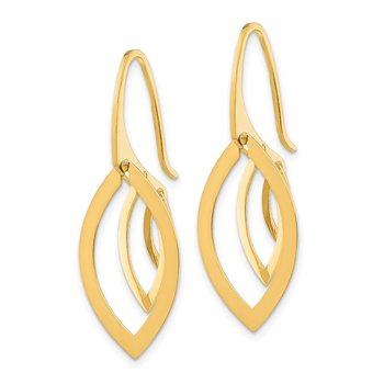 14K Triple Oval Dangle Earrings
