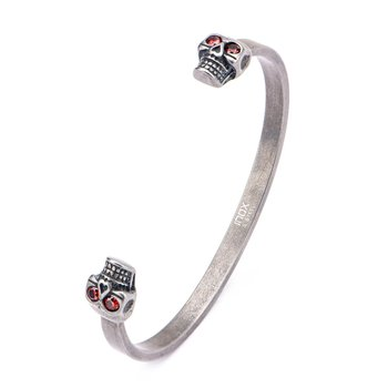 Stainless Steel Skull Ends Cuff Bangle Bangle Bracelet