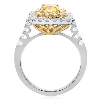 Modern Two Tone Diamond Ring